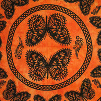 Hippie Hippy Wall Hanging , Indian Butter Fly Mandala Tapestry Throw Bedspread Queen Bed Decor Sheet Ethnic Decorative Art Hippy gypsy decor