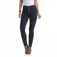 Nicki Minaj Women's Button Front Jeans