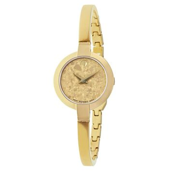 Movado Bela Yellow Gold PVD Stainless Steel Ladies Watch 0607018