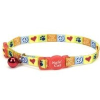 Coastal Peace Love Rescue Safety Cat Collar - 3/8 in.