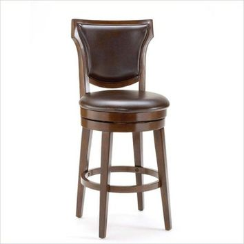 Hillsdale Country Heights Swivel Bar Stool in Rustic Cherry