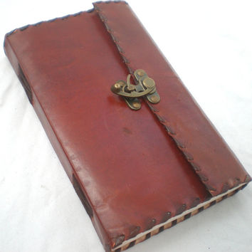 Steampunk Leather Journal Notebook Diary Sketchbook Album Blank Book Poetry Book