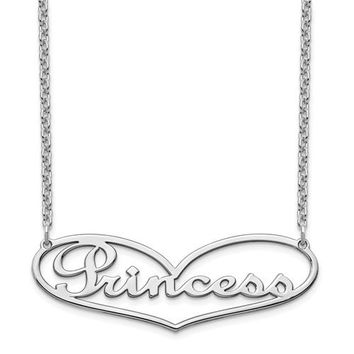 Personalized Name in Heart Necklace