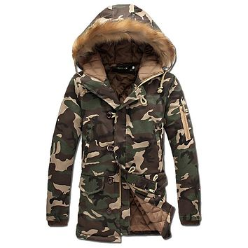 Army and Black & White Camo Fatigue Parkas Jackets