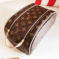 LOUIS VUITTON LV Fashion New Leisure Leather Cosmetic Bag Handbag Women