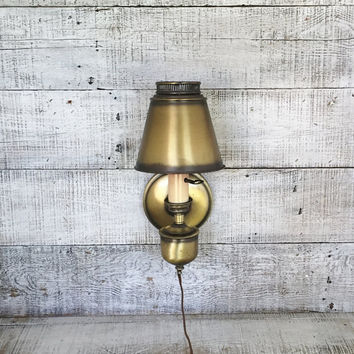 Wall Lamp Mid Century Lamp Hollywood Regency Vintage Wall Sconce Lamp Brass Wall Sconce Mid Century Wall Light Cottage Chic