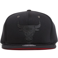 Chicago Bulls Neoprene Strapback Hat Black