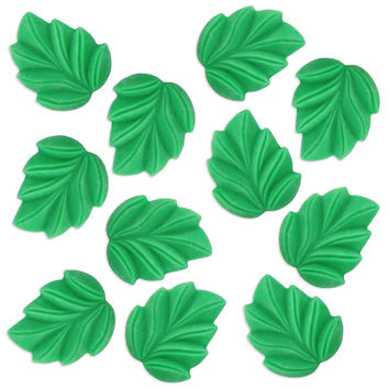 Green Fondant Leaves