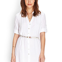 FOREVER 21 Button Front Shirt Dress