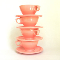 vintage Melmac  set of 4 cups by Mylittlethriftstore on Etsy