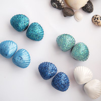 glamasaurus ♥Kawaii Cute Sweet Jewelry + Accessories ♥ — Mermaid Scallop Shell 316L Surgical Stainless Steel Plugs
