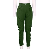 Zanzea Fall Casual Plus Size Women Army Green Pant Woman Design Fashion High Quality Celeb Unique Leisure Trousers Harem Pants