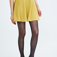 Cooperative Crepe Skater Skirt in Mustard - Urban Outfitters