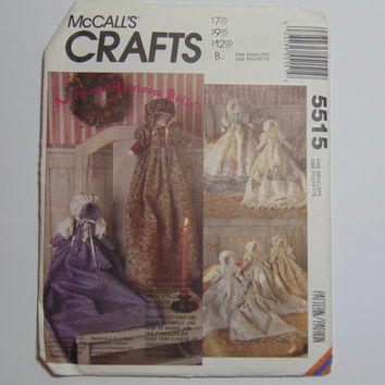 "McCall's Craft Pattern 5515 13"" Soft Stuffed Heirloom Dolls with 8 Gown Styles 1991"
