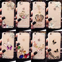 Glitter Rhinestone Case Cover For OPPO A59/A59S/OPPO F1S, Acrylic mobile phone shell Cover Diamond Phone Cases