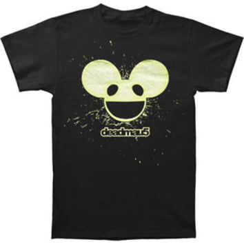 Deadmau5 Men's  Burst Mau Logo Glow Slim Fit T-shirt Black Rockabilia