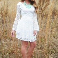 Adore Me In Lace Dress: White - Dresses