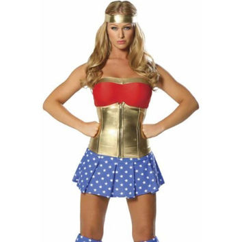 Roma Costume Womens Super Heroine Halloween Party Costume Set