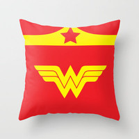 Wonder Woman Minimalist Throw Pillow by Adrian Mentus | Society6