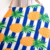 Round Beach Towel | Pineapple