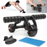 3 Wheels Abdominal Roller Ab Muscle Fitness Workout Training  Gym Exerciser