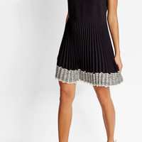 Dress with Pleats and Lace - R.E.D. Valentino   WOMEN   US STYLEBOP.COM