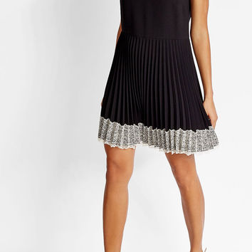 Dress with Pleats and Lace - R.E.D. Valentino | WOMEN | US STYLEBOP.COM