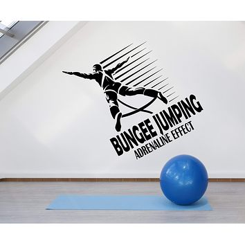 Vinyl Wall Decal Bungee Jumping Jumper Logo Extreme Sport Stickers (2547ig)