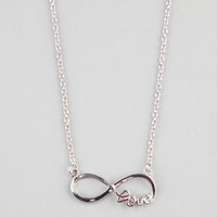 Full Tilt Infinite Love Necklace Silver One Size For Women 22502714001
