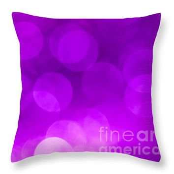 """Radiant Orchid Bokeh Throw Pillow for Sale by Jan Bickerton - 14"""" x 14"""""""