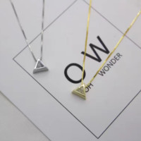 Hollow Diamond Triangle Clavicle Chain Jewelry for Women Necklaces D2766-0413