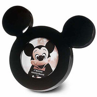 """disney parks 3"""" mickey mouse icon black picture frame new with box"""