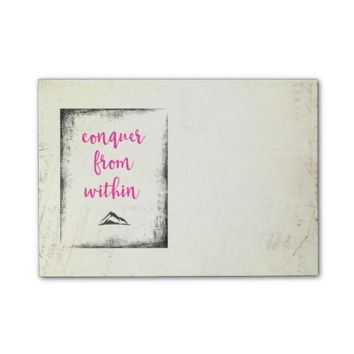 Inspirational Quote Conquer from Within Typography Post-it® Notes