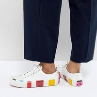 PS by Paul Smith Multi Stripe Trainer at asos.com