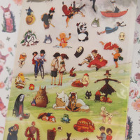 Japan Comic Studio Ghibli Sticker (1 sheet)