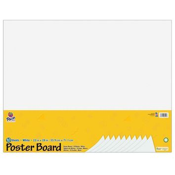 WHITE POSTER BOARD 22X28 10 SHEETS