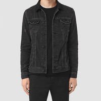 ALLSAINTS UK: Mens Donlington Denim Jacket (Black)