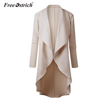Free Ostrich Cardigan Womens Casual Solid Long Cardigans Open Stitch Autumn Winter Sweater Women K1530