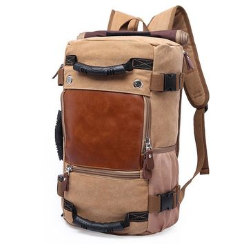 Distinguished Aged Canvas Rucksack