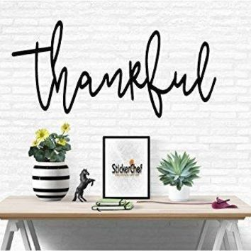 Thankful Family Words Quote Home Decor Vinyl Wall Art Stickers Decals Graphics