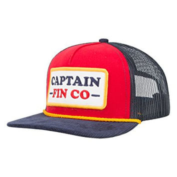 CAPTAIN FIN Patrol Mens Trucker Hat, Red