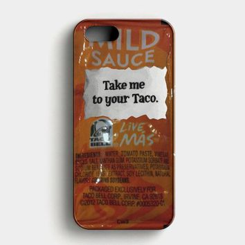 Taco Bell Take Me To Your Taco iPhone SE Case