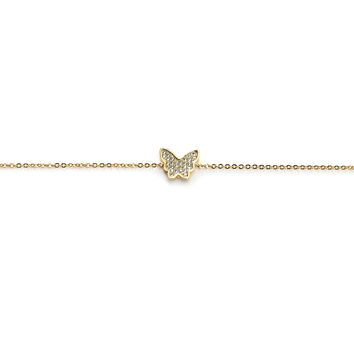 Cutesy Butterfly Charm Anklet