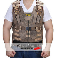 The Rock Luke Hobb Fast and Furious 7 New DSS Tactical Leather Vest - Best Deal