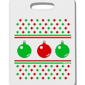 Ugly Christmas Sweater Ornaments Thick Plastic Luggage Tag