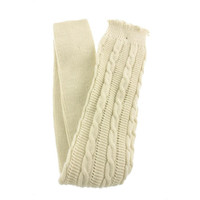 Free People Womens Cable Knit Stretch Leg Warmers