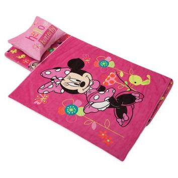 Disney® Minnie Mouse Deluxe Memory Foam Nap Mat, Pillow and Blanket Set in Pink