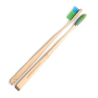 WooBamboo Bamboo ToothBrush: Slim Handle - Soft - 12 Count