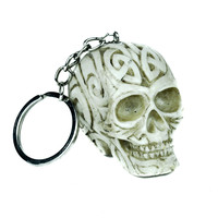 Dark Scary Skull Keychain Keyring Tribal Oddities