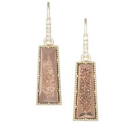 Angie Drop Earrings in Rose Gold Drusy - Kendra Scott Jewelry